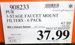 Pur Faucet Mount Refills by Costco Sale Pur 3 Stage Faucet Mount Filters 6 Pack Frugal Hotspot