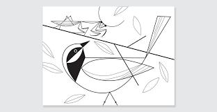 Charley Harper Coloring Book Of Birds Spread 6
