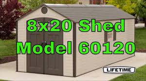 lifetime 8 x 20 storage shed 2 windows 60120 youtube