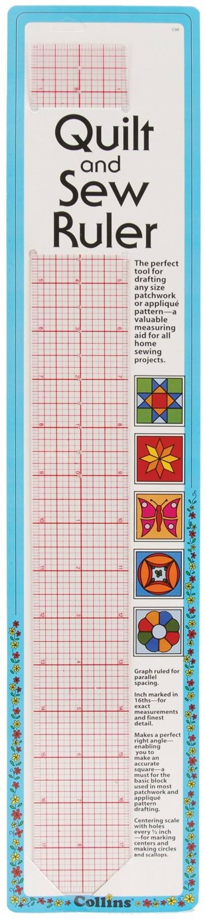 Quilt and Sew Ruler - 46cm