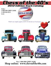 100 Truck Restoration Parts 2012 By Chevs Of The 40s