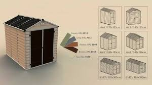 6x5 Shed Double Door by Palram Skylight Shed Abri De Jardin How To Assemble Montage
