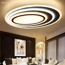 postmodernen acryl kunst well led deckenleuchte wohnzimmer schlafzimmer studie oval ultra dünne dimmen decke len