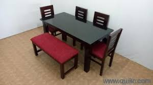 6 Seater Dining Table Set 1 4 Chairs Bench