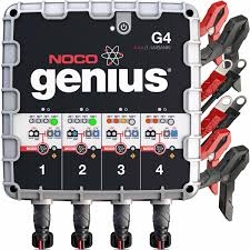 NOCO - 4.4A 4-Bank Battery Charger And Maintainer - G4 Noco 72a Battery Charger And Mtainer G7200 6amp 12v Heavy Duty Vehicle Car Van Compact Clore Automotive Christie Model No Fdc Fleet Fast In Stanley 25a With 75a Engine Start Walmartcom How To Use A Portable Youtube Amazoncom Centech 60581 Manual Sumacher Se112sca Fully Automatic Onboard Suaoki 4 Amp 612v Lift Truck Forklift Batteries Chargers Associated 40 36 Volt Quipp I4000 Ridge Ryder 12v Dc In 20