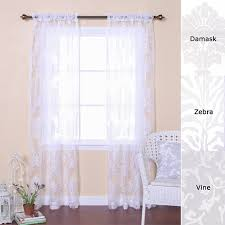 Nate Berkus Sheer Curtains by Amazon Com Best Home Fashion Damask Burnout Sheer Curtains Rod