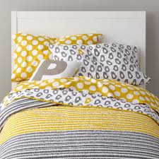 Twin Bed In A Bag Sets by Kids Bedding Grey Yellow Peep Bedding The Land Of Nod