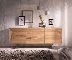 design sideboard wyatt 175 cm akazie natur 3d optik oben edelstahl delife eu