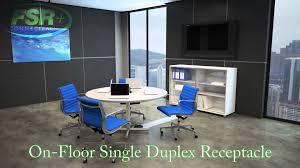 Fsr Floor Boxes Fl 600p by Fsr Connectrac On Floor Single Duplex Receptacle Youtube