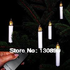 Battery Operated 10Pcs Set LED Candle Light With Remote Control For Christmas Tree Party Wedding Home Decor Decorative Candles In From Garden