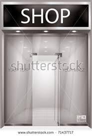 Shop Front Exterior Windows Empty For Your Store Product Presentation Or Design Eps10 Vector