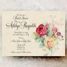 Vintage Bridal Shower Printable Invitation 21usd
