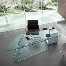 bureau en acier bureau en acier inoxydable en verre contemporain graph by