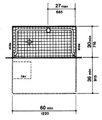 Minimum Bathroom Counter Depth by Ada Checklist For New Lodging Facilities