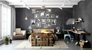 Apartments Entrancing Industrial Bedroom Designs Home Design
