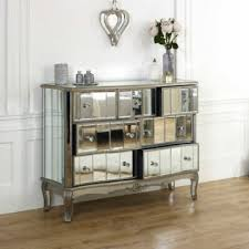 großer spiegel 7 schubladen vintage französisch shabby chic kommode schlafzimmer