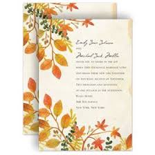 Autumn And Fall Wedding Invitations Hues Invitation
