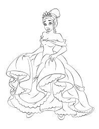 Printable Barbie Princess Dress Book Coloring Pages For Kids Free Tiana Disney Colouring Games