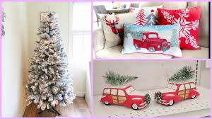 White Flocked Christmas Tree Walmart by Christmas Home Decor Haul New Flocked Christmas Tree Youtube