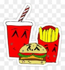 Cute Fast Food Cartoon Stickers By Zozzy Zebra