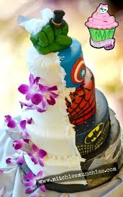 Superheroes Are Taking Over My Wedding Cake
