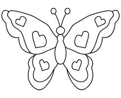 Butterfly Clipart Black And White Outline