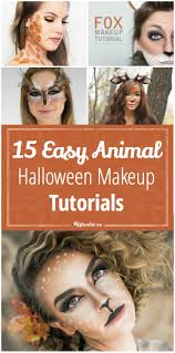 All White Halloween Contacts by 15 Easy Animal Halloween Makeup Tutorials Tip Junkie