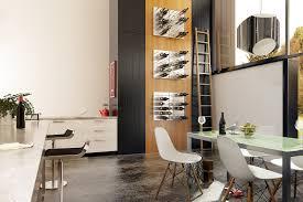 Furniture Elegant Wine Racks In The Modern Kitchen Design With