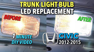 honda civic trunk light bulb led replacement 2012 2014 1 minute