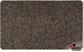 fußmatte teppich läufer baumwolle uni einfarbig braun