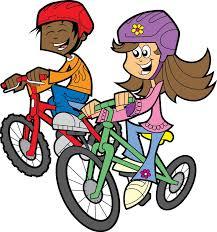 en bicicleta clipart