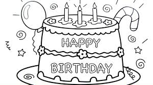 happy birthday cake drawing pages coloring book fun art colours