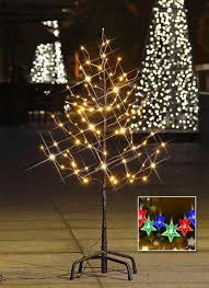 5ft Christmas Tree With Lights by Amazon Com Lightshare 3ft 112l Lighted Star Light Tree Warm White