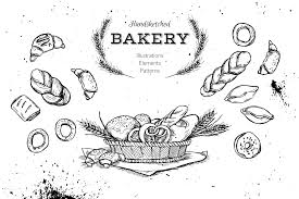 Hand drawn illustrations Pastry clipart example image