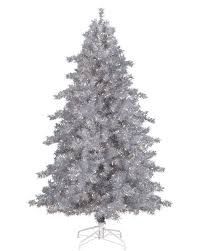 6ft Pre Lit Christmas Trees Black silver and metallic tinsel christmas trees u2013 treetopia