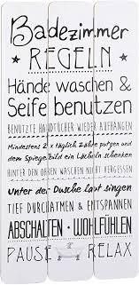 wandschild plankenschild badezimmerregeln ca 60 x 30 cm vintage motiv schild ideal für badezimmer oder flur geschenkidee für ihre
