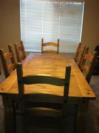 Rustic Farm House Pine Dinning Room Table And 6 Chairs By Pier One Imports
