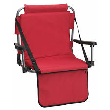 Custom Stadium Chairs For Bleachers by 2 X Red Padded Stadium Seats For Sporting Events Camping By