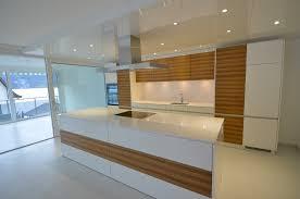 aa wohnküche mit kochinsel kombination zebranoholz mit