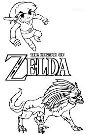 Zelda Coloring Pages Printable For Kids Video Game Princess Legend Of Wind Waker