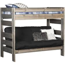 Trendwood Bunk Beds by Cheyenne Driftwood Twin Over Twin Futon Bunk Bed Dw 4705 4706