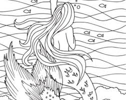 Beach Sunrise Coloring Page Embroidery Pattern Art