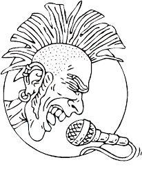 Rocker With Mohawk Coloring Page