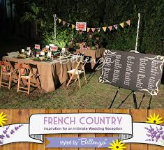 Backyard Venue For A French Country Wedding Theme