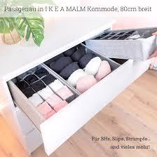 malm organizer 3er set für ikea malm kommode kommode