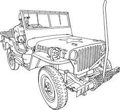 Army Car Drawing Colouring Page PageFull Size Image