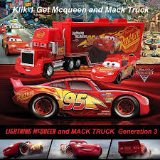 Jual Mainan Anak Cars Lightning McQueen And Mack Truck - Unixcomart ...