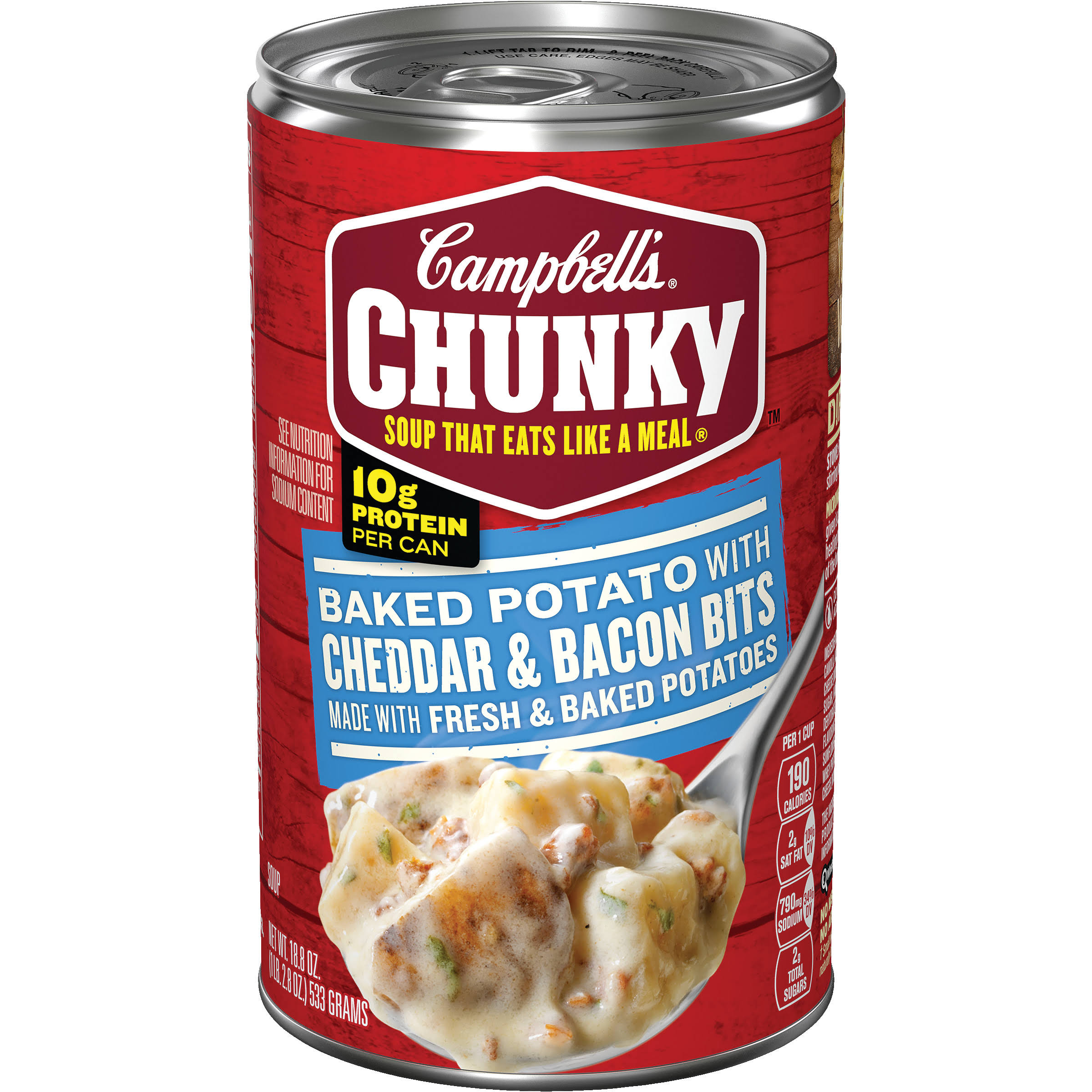 Campbell's Chunky Baked Potato with Cheddar & Bacon Bits Soup - 18.8oz
