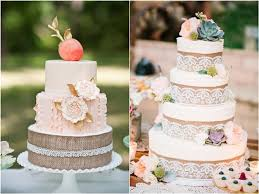 Rustic Burlap Wedding Cake Ideas