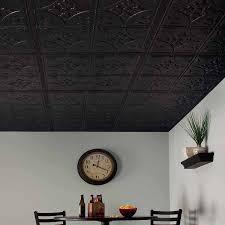 Black Ceiling Tiles 2x4 by Genesis Ceiling Tile 2x2 Antique Tile In Black